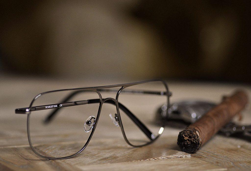 okulary mafii cygaro zegarek