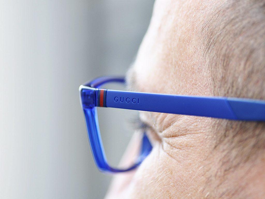 gucci okulary niebieskie
