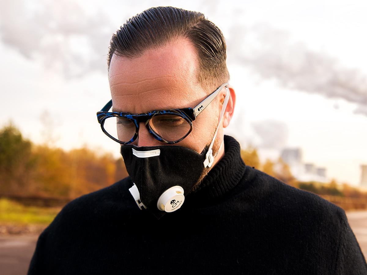 okulary i maska antysmogowa